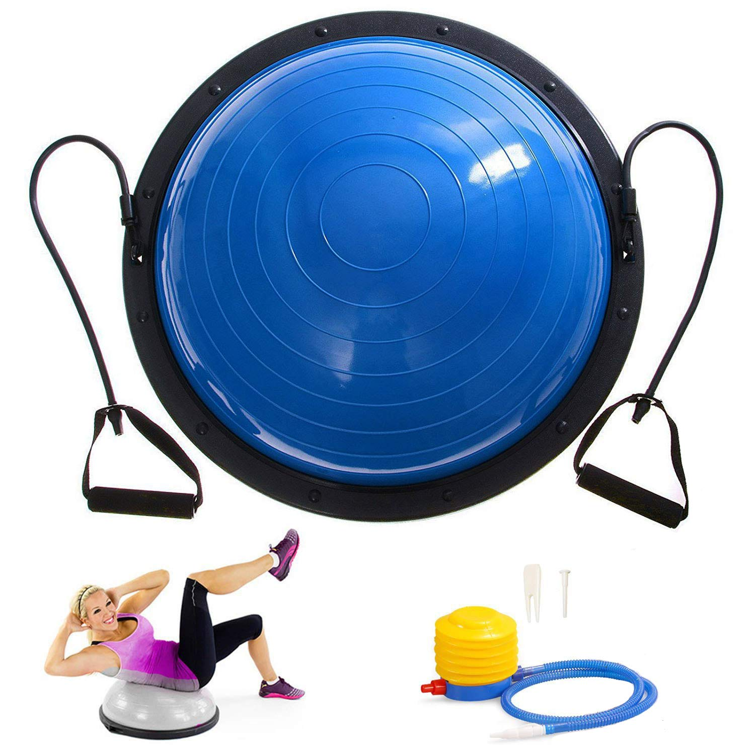 SHZOND 23'' Yoga Balance Ball Yoga Fitness Strength Exercise Workout Sport Balance Trainer