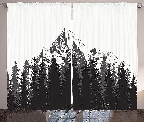 Ambesonne Prehistoric Curtain