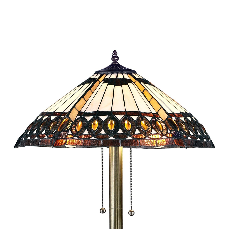 Serena d italia 1908 Studios Amberjack Tiffany Style Floor Lamp