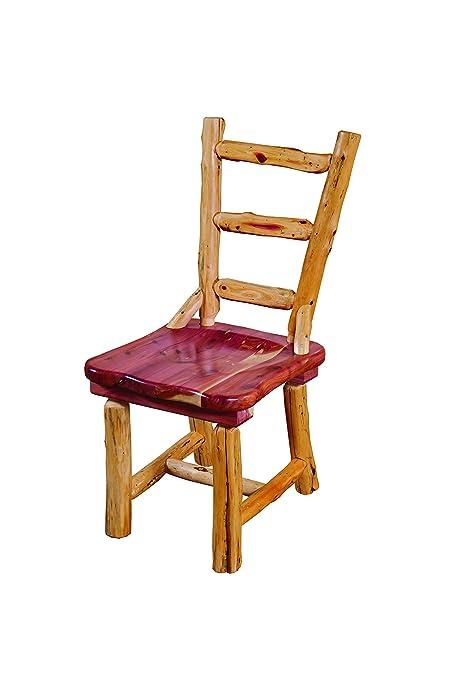 Sensational Amazon Com Rustic Red Cedar Log Dining Chair Ladder Back Download Free Architecture Designs Grimeyleaguecom