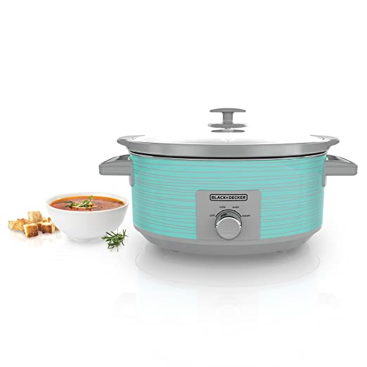 Black & Decker SC2007D Slow Cooker, 7 Quart, Teal Wave