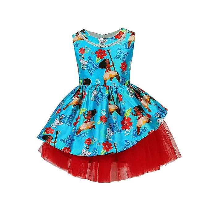 Vestito Bambina Blu Abiti Corto Fiori Frozen Estivi Vestiti Eleganti  Cerimonia Dress Compleanno Casual Principessa Abito 2f523a95fc0