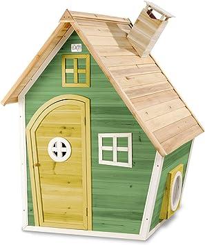 EXIT Fantasia 100 Wooden Playhouse - Green - Casas de Juguete (Casa de Juegos de Suelo, Niño/niña, 3 año(s), Verde, 12 año(s), Madera): Amazon.es: Juguetes y juegos