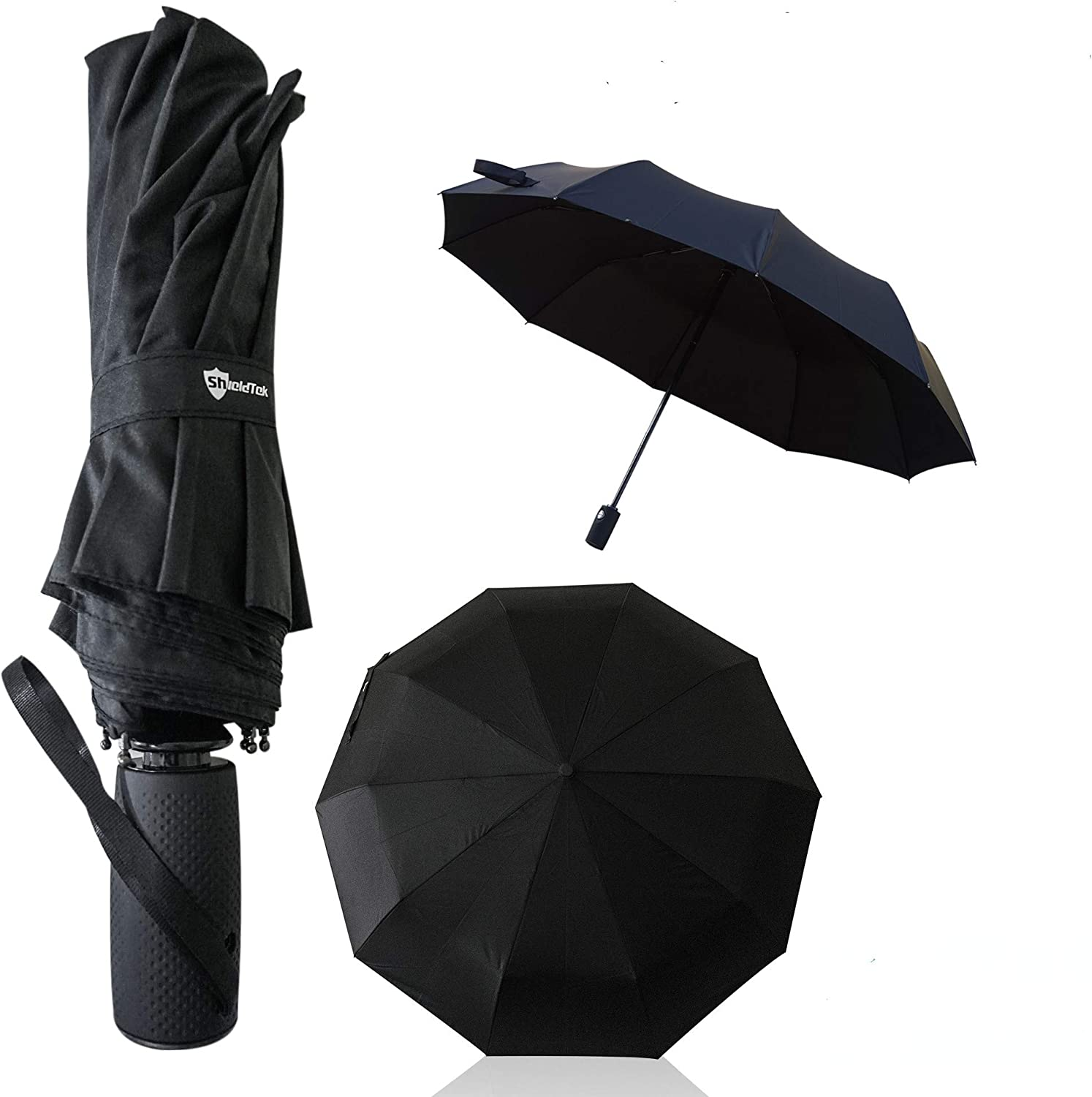 Color : Black YTSZM Compact Umbrella Auto Open /& Close Travel Folding Umbrella with Reinforced 8 Ribs Slip-Proof Handle for Easy Carry,Protection Windproof Fast Drying Umbrella