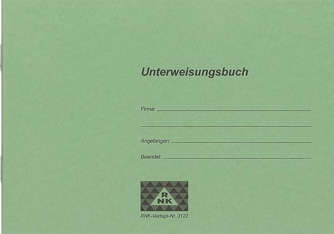 Rnk 3122 Unterweisungsbuch Für Die Betriebliche Unfallverhütung 48 Seiten Din A5 Quer 1 Stück Küche Haushalt