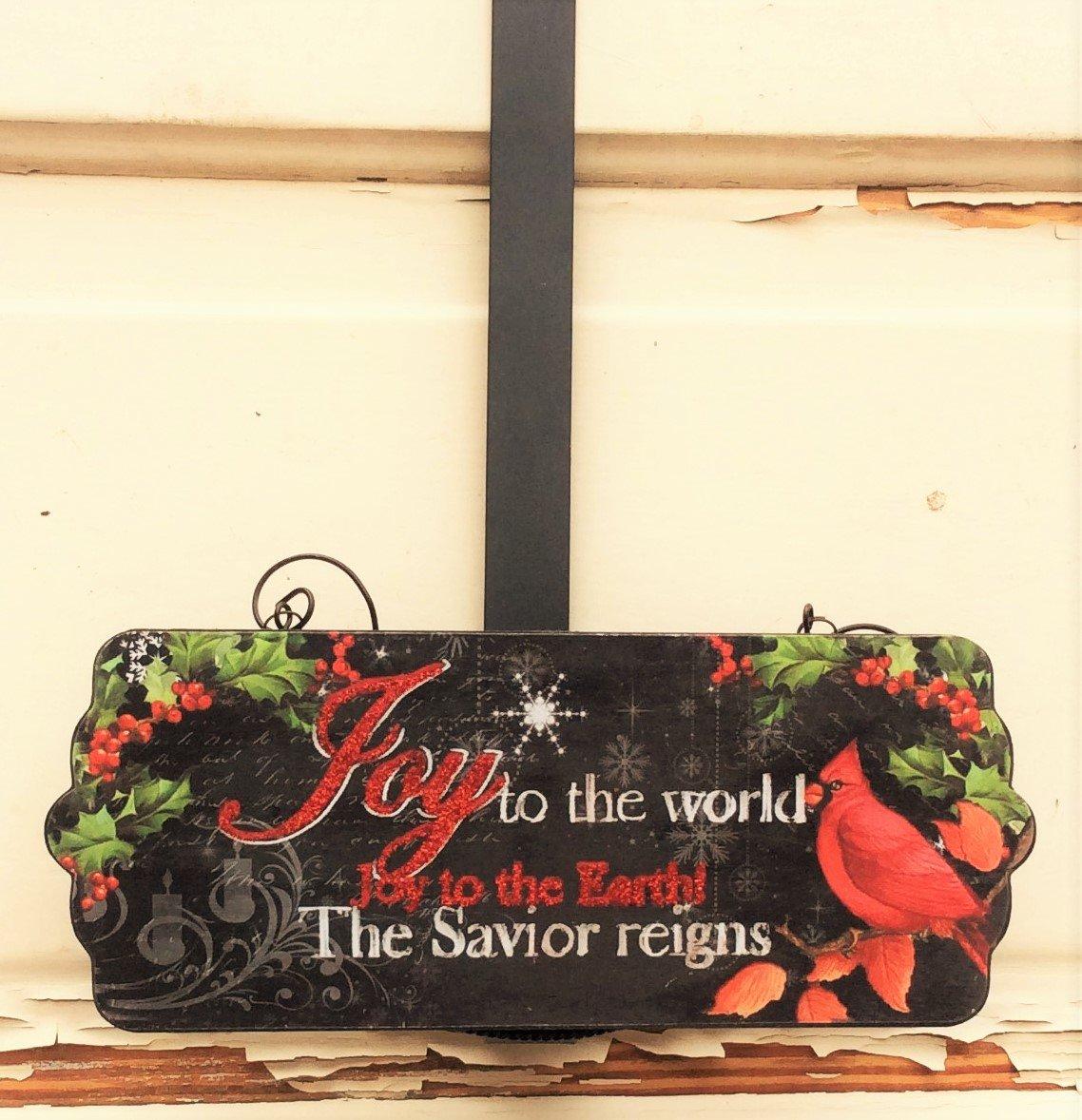 AG Designs Christmas Decor - Decorative Wreath Door Hanger - Joy to World 419/13