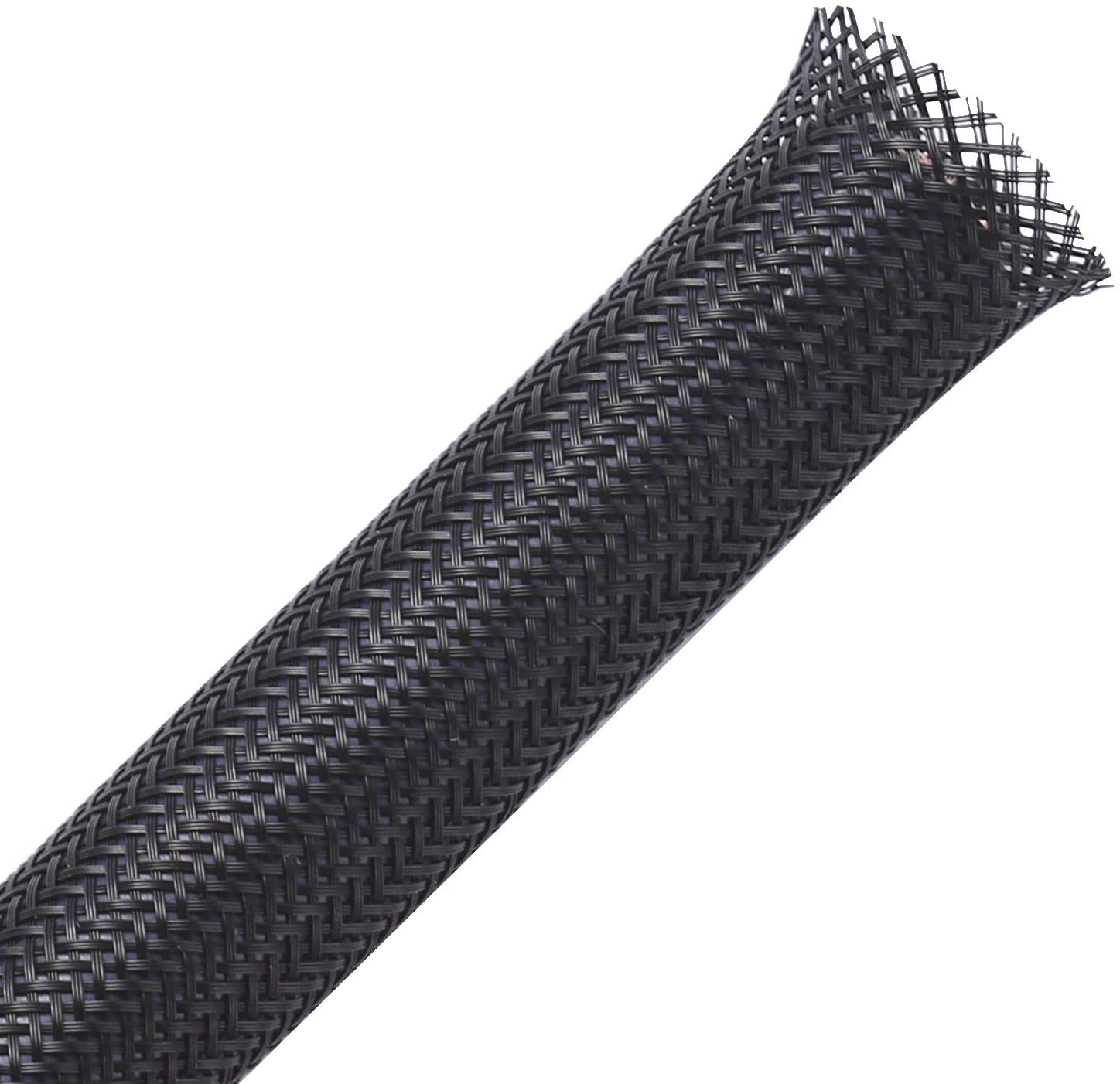 100ft - 1/4 inch PET Expandable Braided Sleeving – Black – Alex Tech braided cable sleeve: Home Improvement