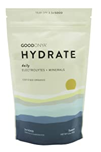 Hydrate Electrolyte + Mineral Powder I Organic   Zero Sugar Added   Keto & Paleo I Real Lemon I Non GMO IPlantBasedIMakes Ultimate Clean Liquid Drink I Replenishmentby GOODONYA5.6oz [20+ serv.]