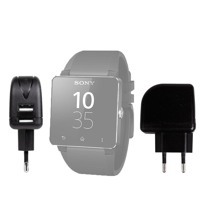 USB-Cargador de viaje (carga rápida, 2 Amp) DURAGADGET Reloj ...