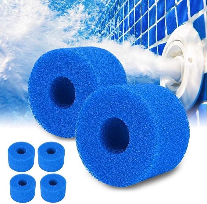 SK-LBB Cartucho de filtro para Intex tipo S1, esponja de espuma para filtro de piscina, reutilizable y lavable, 6 unidades
