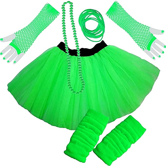 LADIES PINK NEON TUTU SKIRT FANCY DRESS HEN PARTY PARTY UV FISHNET  8-16 /& 16-22