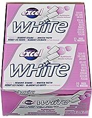 Excel White Sugar-Free Gum, Bubblemint, 12 Count