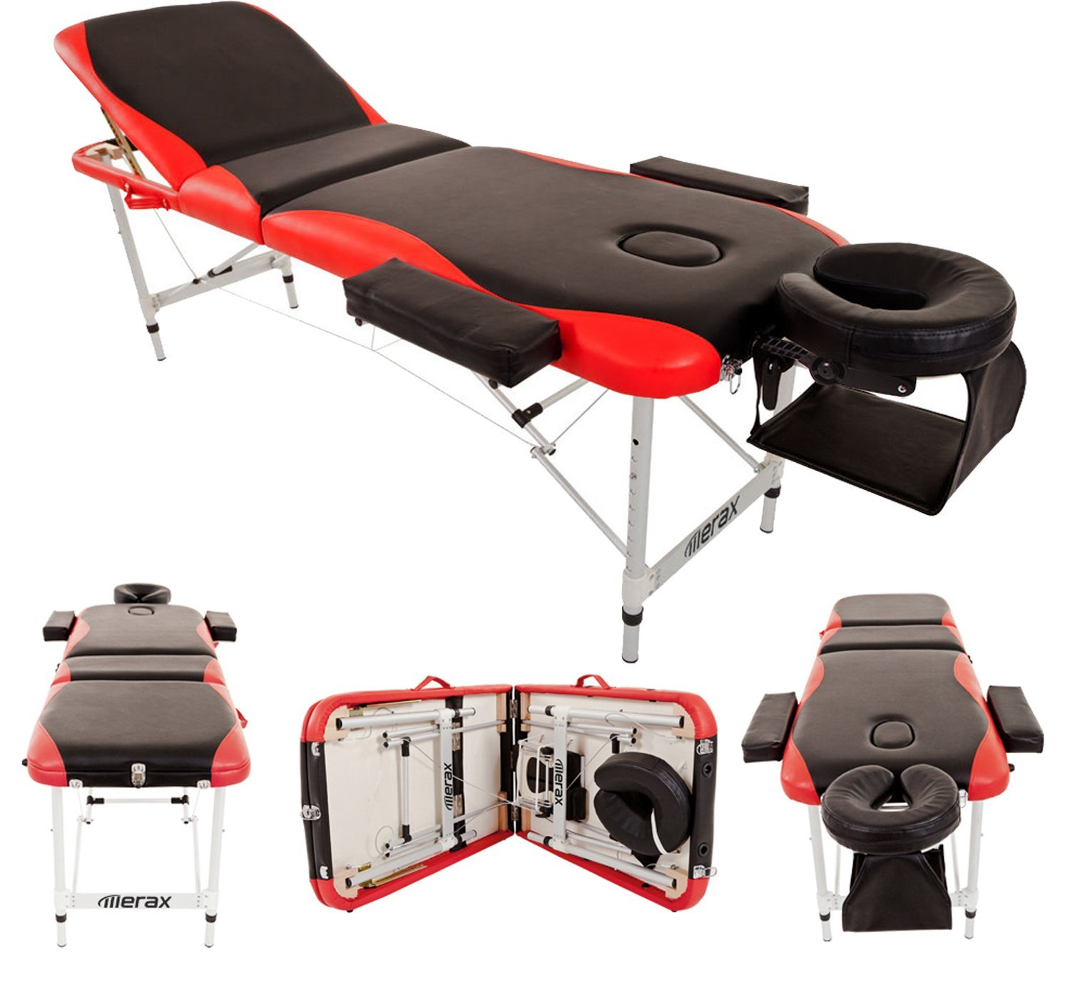 Merax WF015763JAA Aluminium 3 Section Portable Folding Massage Table Facial SPA Tattoo Bed by Merax (Image #1)
