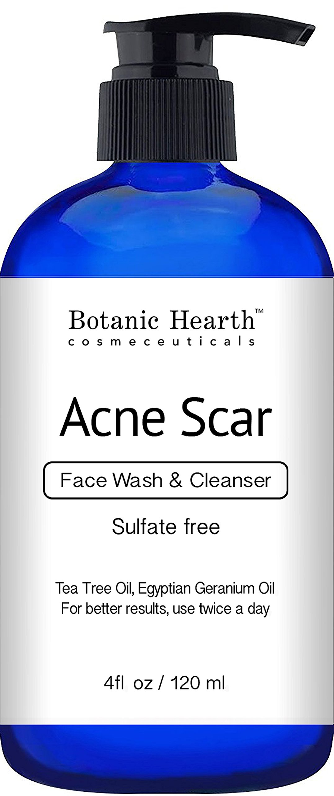 Botanic Hearth Acne Scar Wash, Sulfate Free, Reduces the Appearance of Scars and Hyperpigmentation, for Face and Body, 4 fl oz