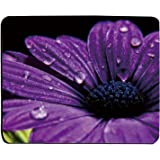 Mouse Pad Purple Daisy 17176 Oblong Shaped Mouse Mat Design Natural Eco Rubber Durable Computer Desk Stationery Accessories Mouse Pads For Gift