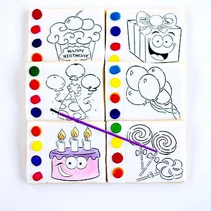 1 cumpleaños pinta tus propias galletas. ¡Feliz cumpleaños ...