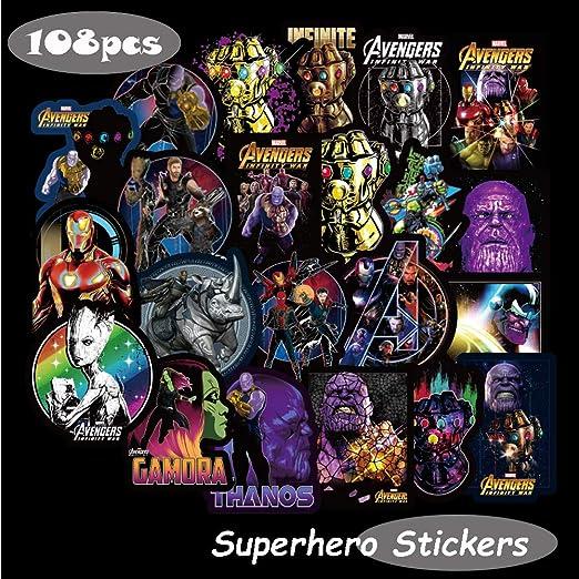 Marvel Avengers Stickers Autocollant Mural Bagages Ordinateur Portable Autocollant Vélo BMX 50 pièces!