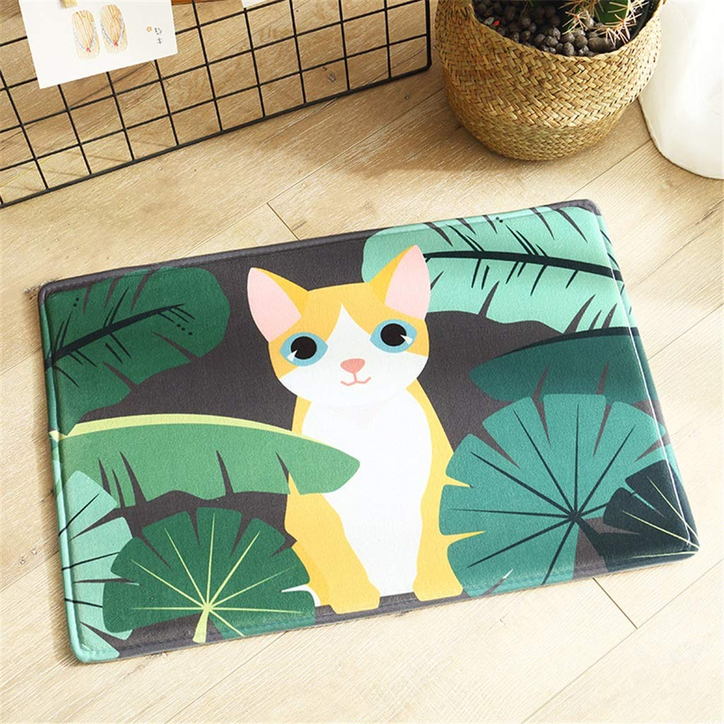 QIAO Rug Bathroom Mats Flannel Door Mats Absorbent Dustproof Living Room Bedroom Door Kitchen Carpet Easy to Clean (Color : A, Size : 45x120cm(17.71''x47.24''))