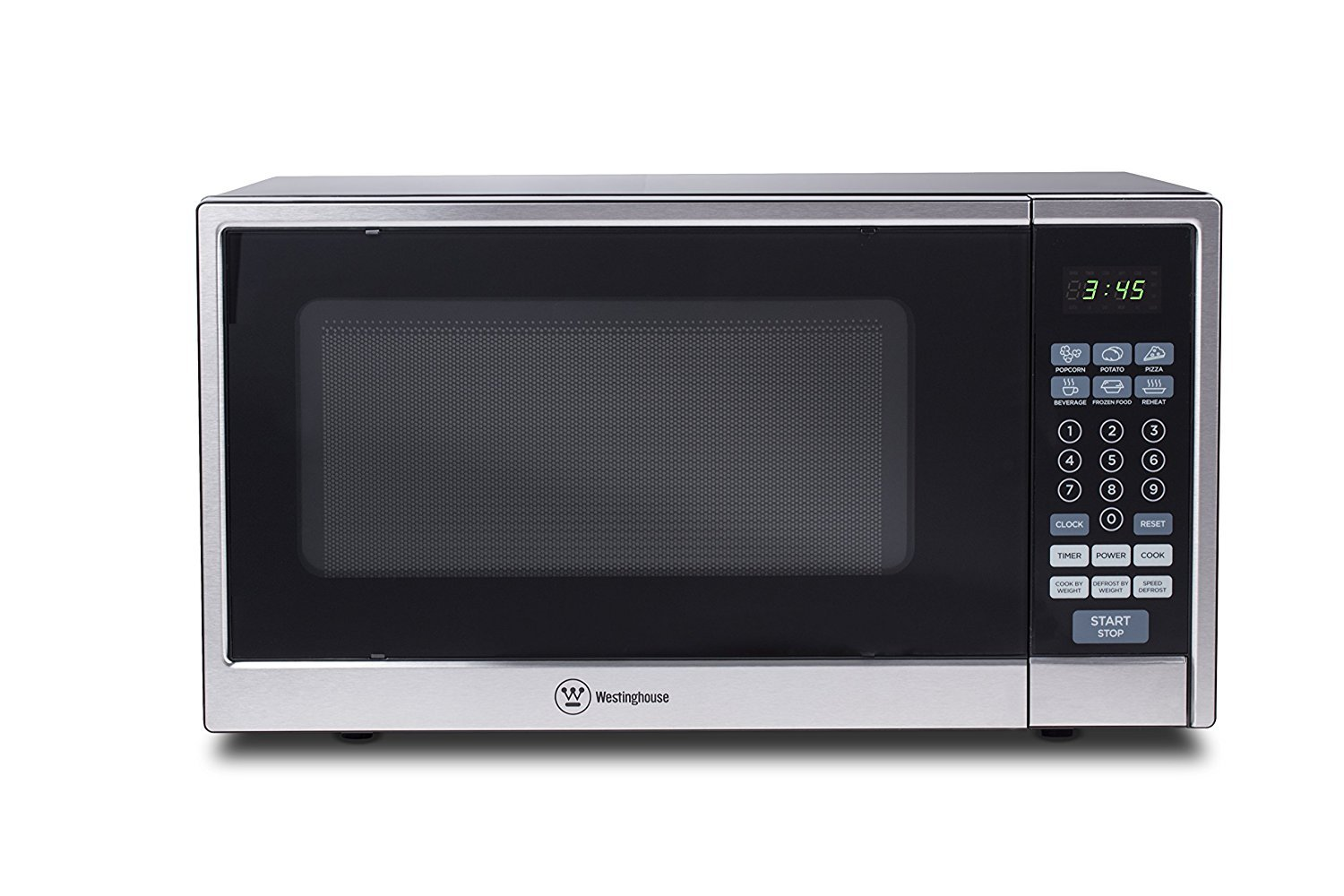 Microwave Oven Compact Countertop Electric Black & Stainless Steel 1000 Watt 1.1 cu. ft. Cookware