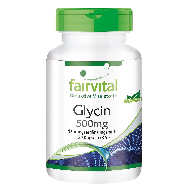 Glicina 500 mg - para 1 mes - VEGANO - Alta dosificación - 120 cápsulas - aminoácido: Amazon.es: Salud y cuidado personal
