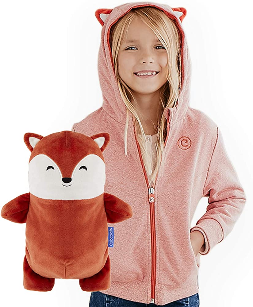 Red and Black 2-in-1 Transforming Hoodie and Soft Plushie CUBCOATS Minnie Mouse