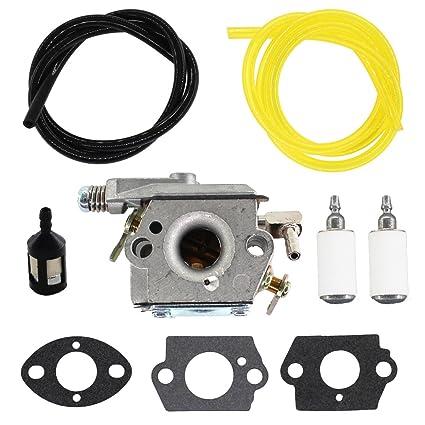 USPEEDA Carburetor for Tecumseh TC200 TC300 640347 640347A TM049XA Ice  Auger 2-Cycle Carb Strike Master Jiffy Ice Auger 50667 Fuel Line Fuel  Filter