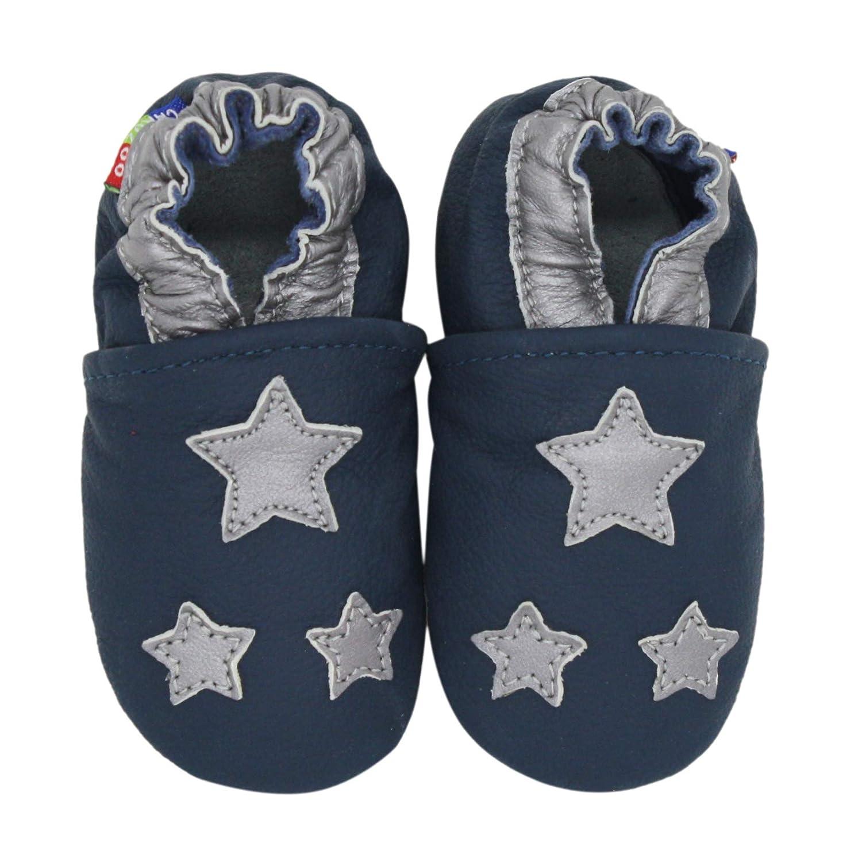 Carozoo Chaussures B/éb/é Enfant /à Semelle Souple Chaussons Cuir Souple 0-6 Mois Jusqu /à 7-8 Ans
