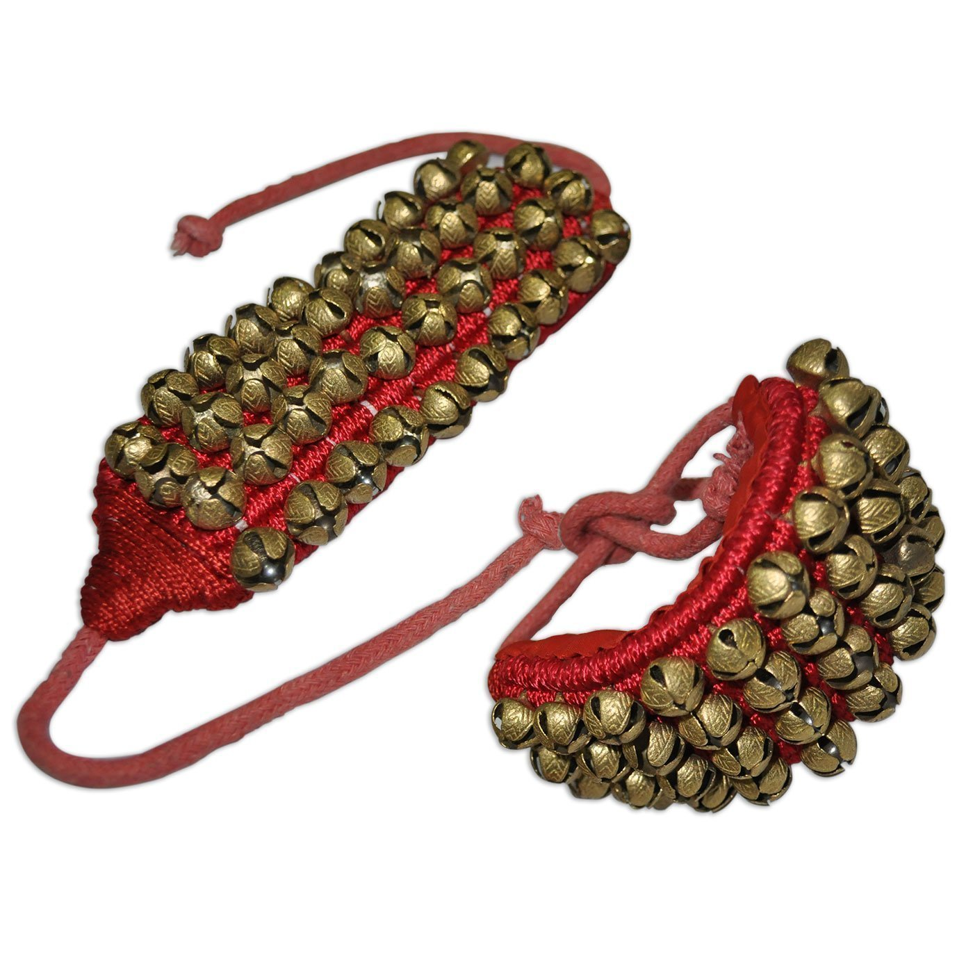 Winmaarc Handmade Indian Classical Ghungroo Dance Accessories Bharatnatyam, Kuchipudi, Odissi Ghungru For Dancer's Feet (40 bells + 40 bells)