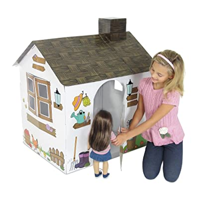 Emily Rose Incredible Colorful Dollhouse or Kid's Play House | Includes Functioning Door, Window and Roof Hatch! (Farm House) | Playhouse for Kids: Toys & Games