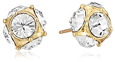 e4f5ffb3d Image Unavailable. Image not available for. Color: Kate Spade Lady Marmalade  Clear/Gold Stud Earrings O0RU1145