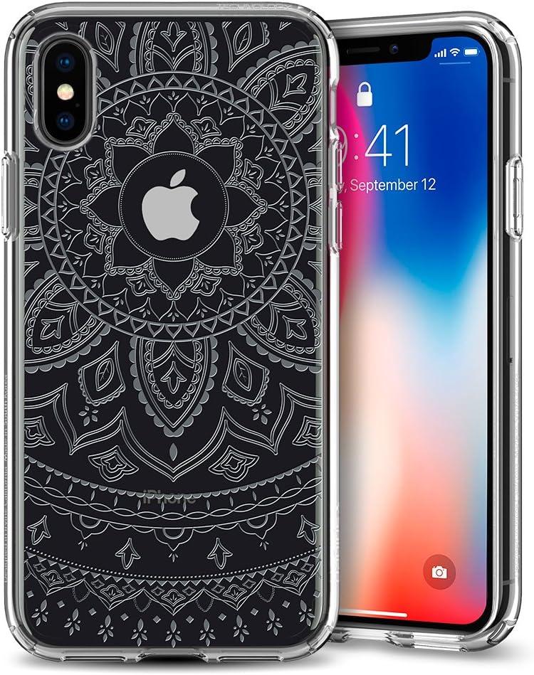 Spigen Liquid Crystal Designed for Apple iPhone Xs Case (2018) / Designed for Apple iPhone X Case (2017) - Shine Crystal Clear