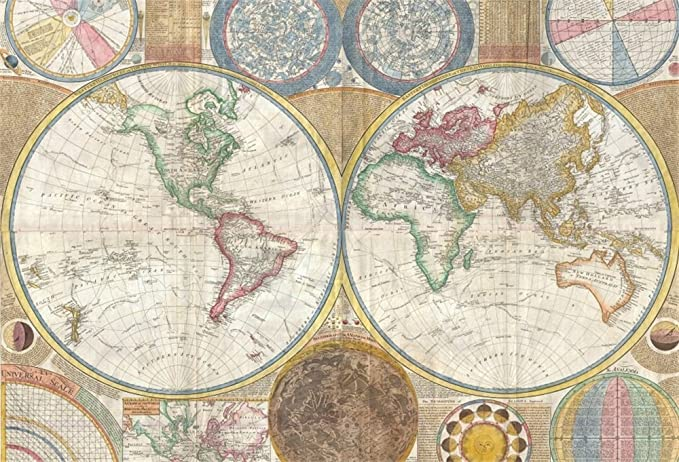 New Vintage World Map Backdrop 7x5ft Hemisphere Photos Background Adult Nautical Theme Events School Background Newborn Baby Portraits Baby Shower Party Business Room Wallpaper Shoots Props