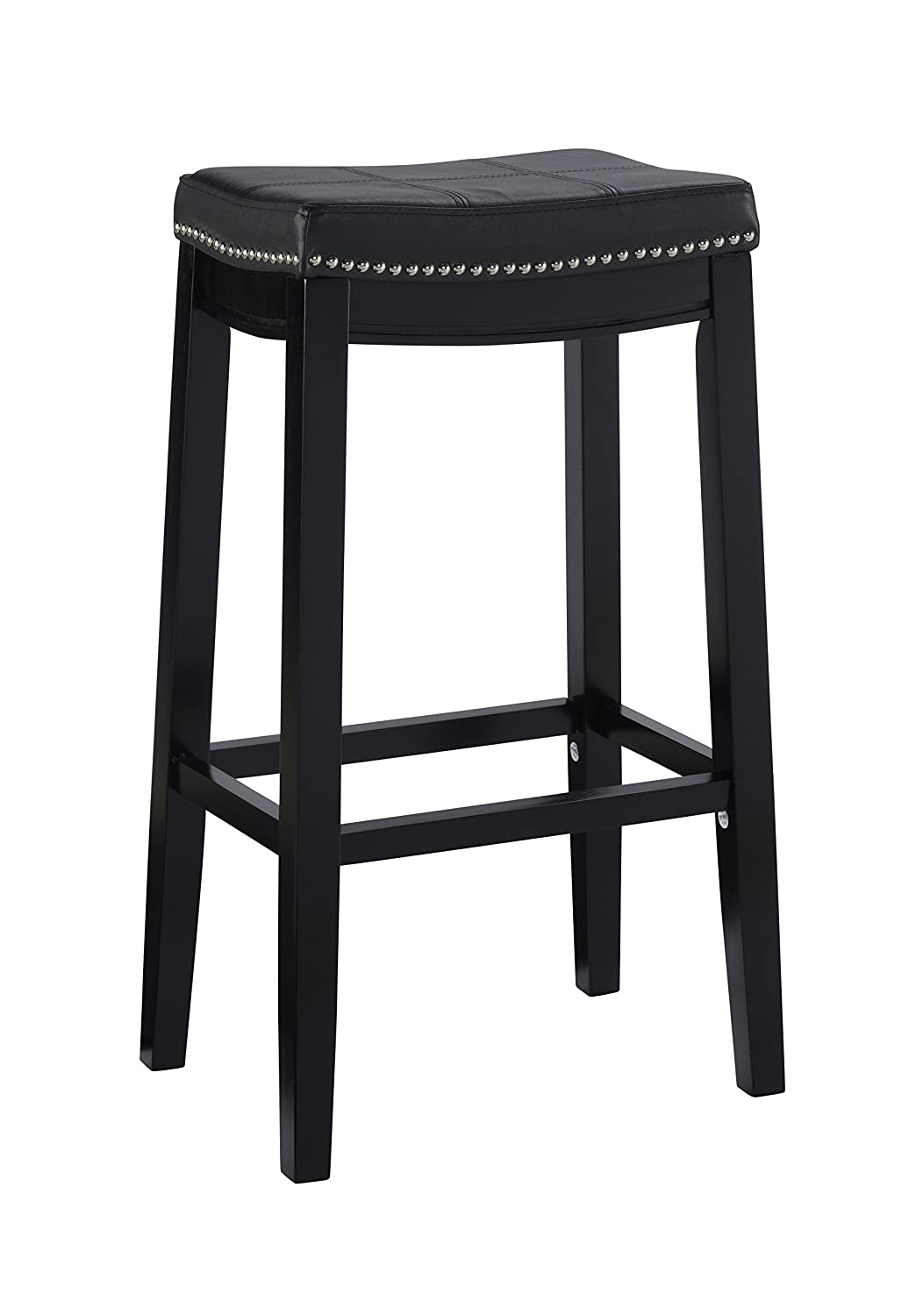 Linon 55816BLK01U Claridge Bar, Black Stool 32 X 18.75 X 13