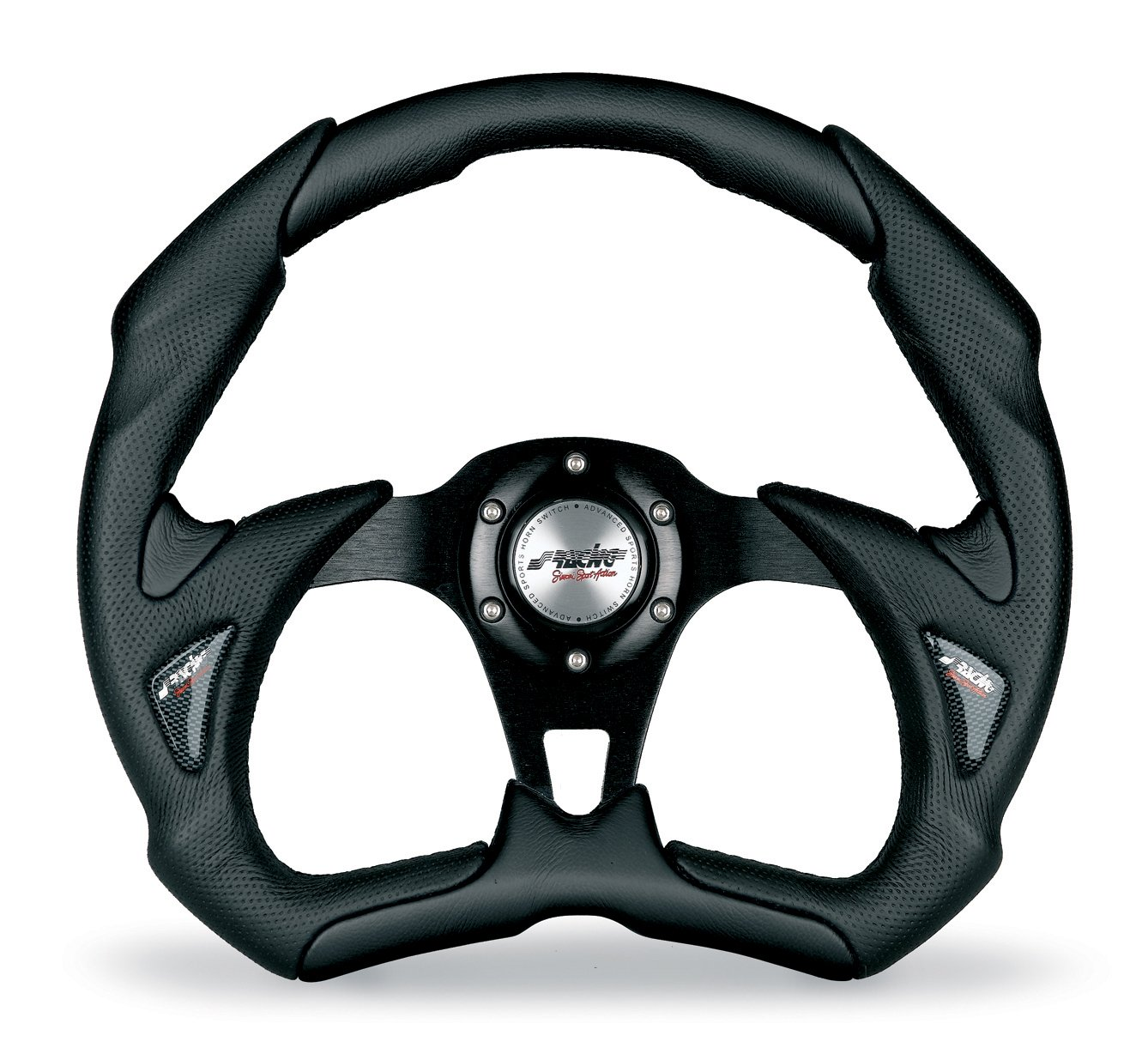 Simoni Racing X5350PUN/P Universal Steering Wheel, Black