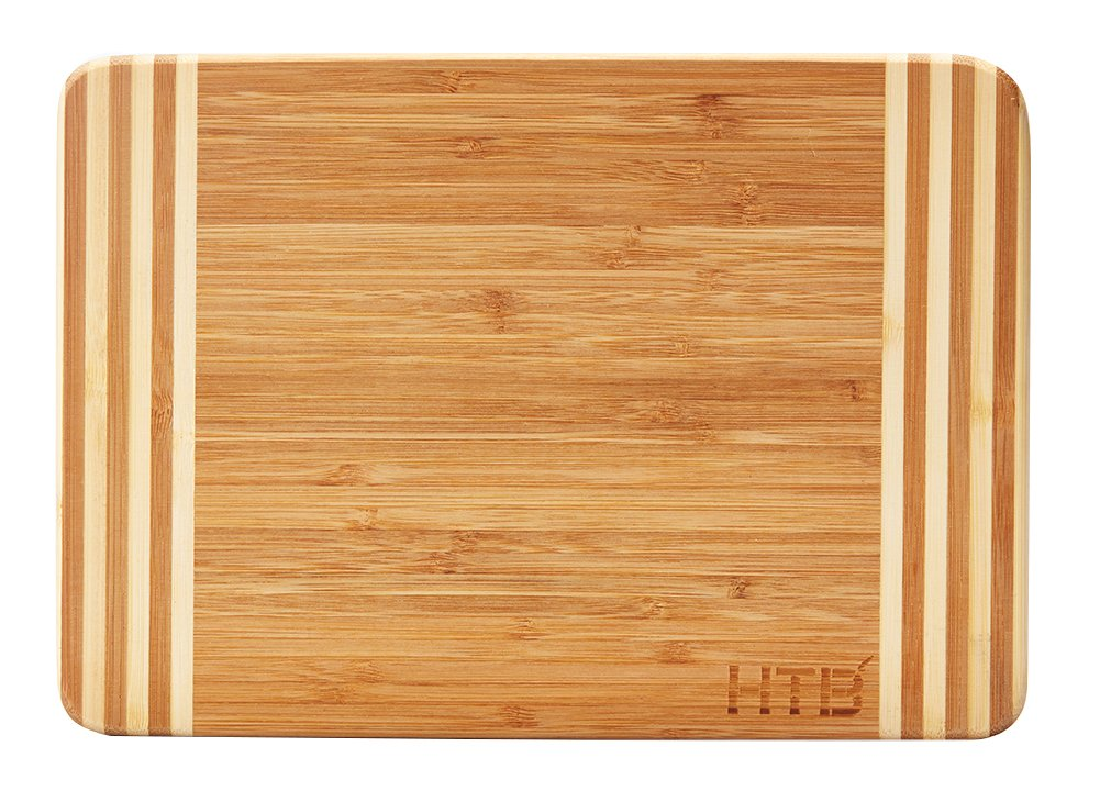 HTB Bamboo Cutting Board,Organic Kitchen Chopping Boards,For Bread,Cheese,Meat,Veggies,Bar board 02M