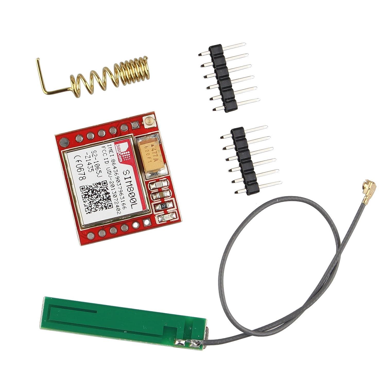 modulo breakout per rete quad-band GPRS GSM con interfaccia seriale TTL Haljia SIM800L con antenna micro sim e interfaccia Ipex per Arduino Raspberry Pi ARM MCU