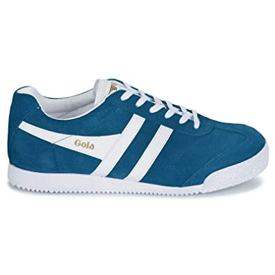 3d1ed19d3b2b Gola Mens Classics Harrier Marine Blue White Suede Trainers 8 US