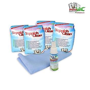 2 Kg Tapis Clean Nettoyant Tapis Poudre Chiffon Microfibre Et Anti