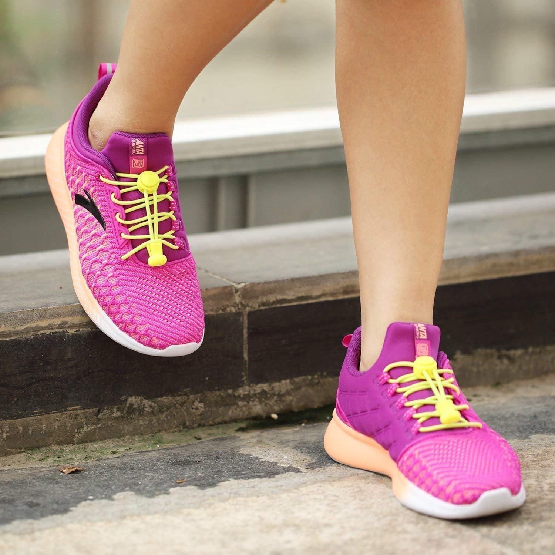 lacets /élastiques pour chaussures de confort et de commodit/é pour adultes Lacets /élastiques de verrouillage sans cravate 5 paires de lacets de lacets coureurs de marathon. enfants