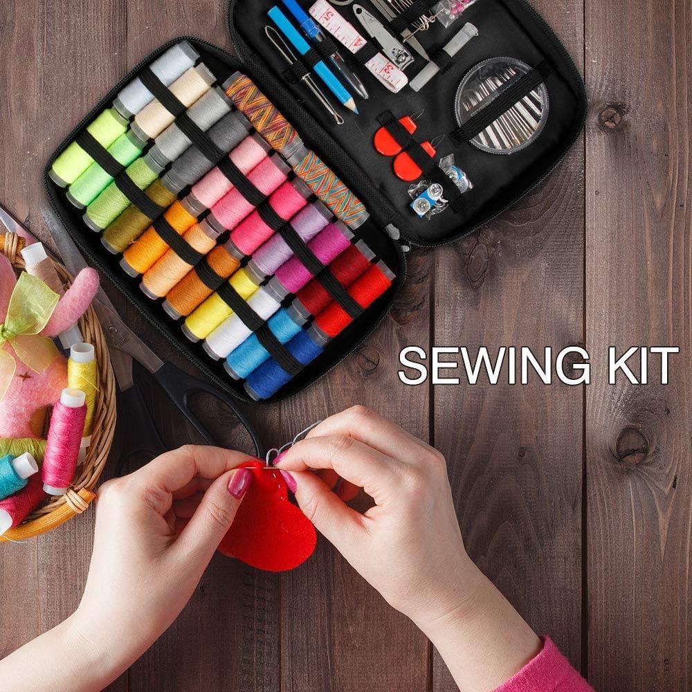 Bricolaje Kit de Costura Principiantes Samione 234 PCS Suministros de Costura Port/átiles Premium Costura Kit de Accesorios Perfecto para el Hogar Viajes y uso de Emergencia
