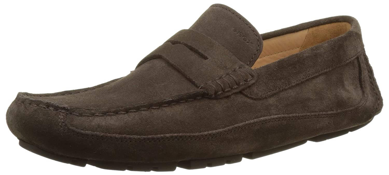 Geox U Melbourne a, Mocasines para Hombre 41 EU|Marrón (Chocolatec6005)