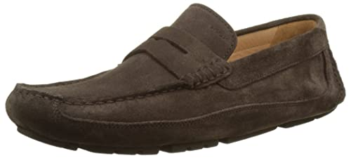 Geox U Melbourne A Mens Suede Moccasins/Shoes-Brown-11