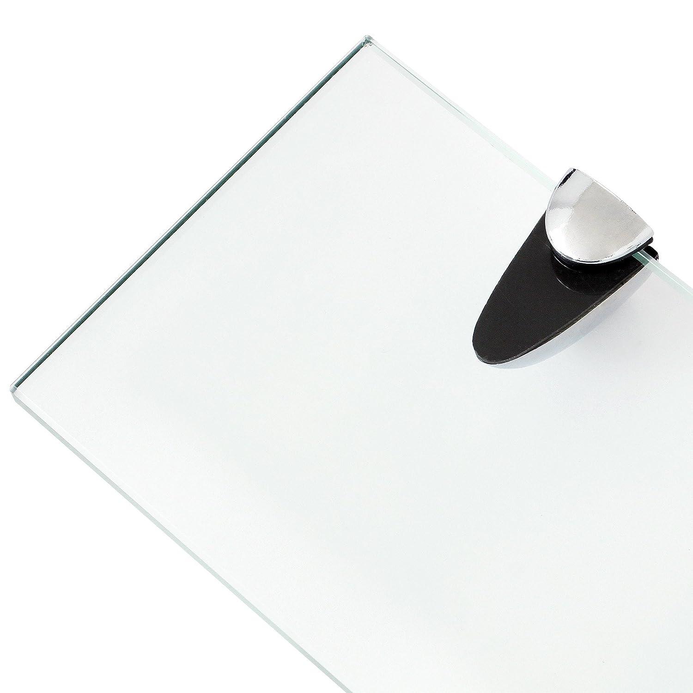 Glasregal Glasboden Wandregal Badregal Ablage Regal Bad 500x100x8mm Klarglas