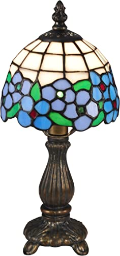 Dale Tiffany TA15089 Daisy Tiffany Accent Table Lamp, Antique Brass