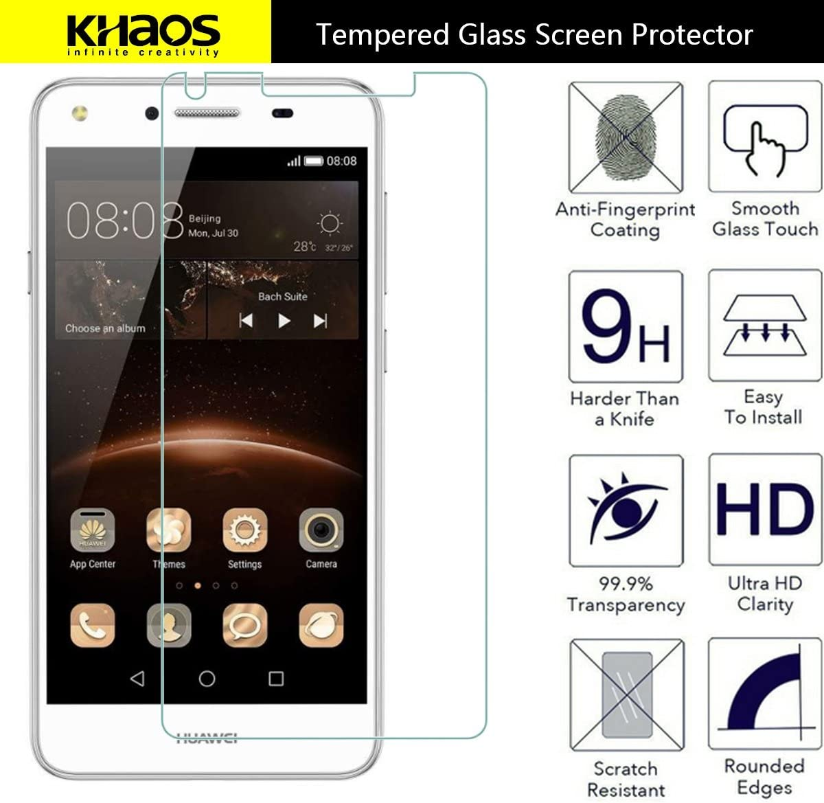 KHAOS For Microsoft Surface Book Tempered Glass Screen Protector