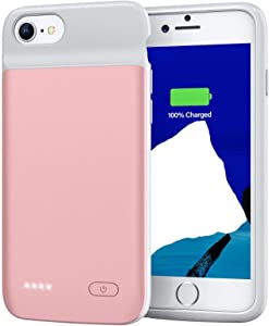 Battery Case for iPhone 8 7 6s 6 SE 2020, Swaller 3200mAh Charging Case Portable Rechargeable Protective Battery Charger Case for iPhone 8 7 6s 6 & SE 2020(2nd Generation) (4.7 inch) (Pink)