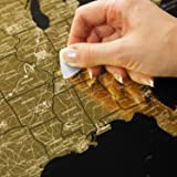 Detailed Scratch Off USA Map (16x24in) United States Travel Map Gift – Includes Rewritable Marker – Made of Flexible Plastic by 1DEA.me
