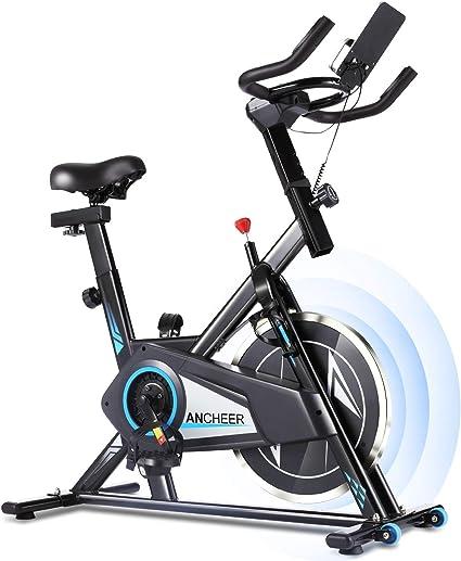 Profun Bicicleta Estática de Spinning Profesional, Ajustable Resistencia, Pantalla LCD, Bicicleta Fitness de Gimnasio Ejercicio con Volante de Inercia, Sillín Ajustable, Máx.130kg (Negro): Amazon.es: Deportes y aire libre