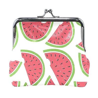 Amazon.com: Fruits - Monedero pequeño con diseño de sandía ...