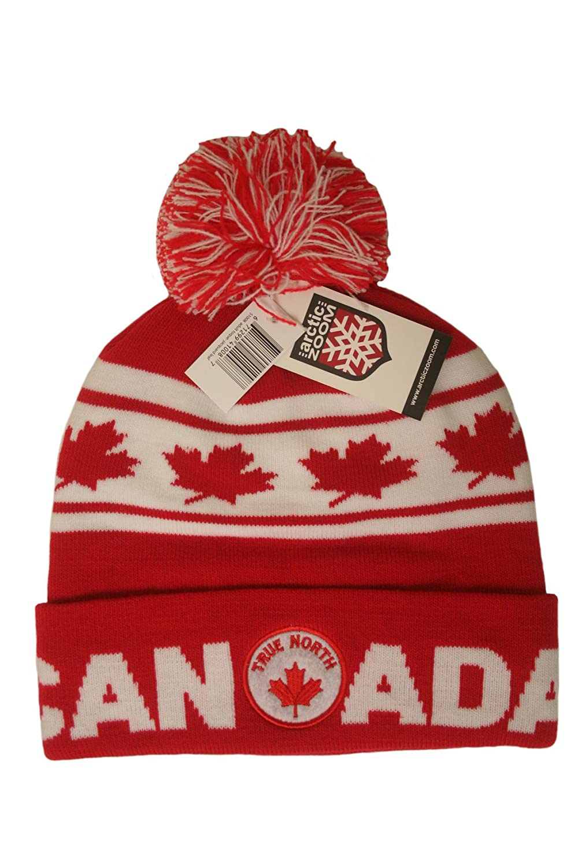 TRUE NORTH Adult Toque - Jacquard Leaf Canada Winter Hat With Pom Pom ..  New  Amazon.ca  Patio 2be4b6f9d7c